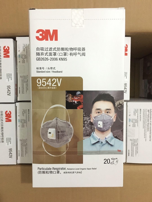 3M 9542V Upgrade KN95 Headband Folding Anti-organic Vapor Odor and Particulate Matter Mask Anti-smog 4