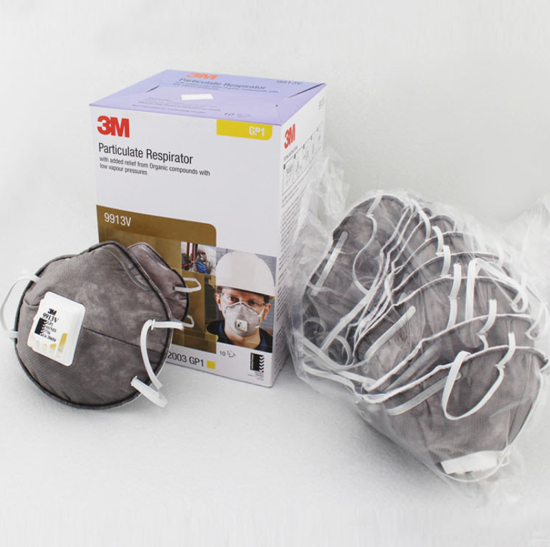 3M 9913V Activated Carbon Mask KN90 Anti-smog PM2.5 Anti-organic Steam Odor Particulate Respirators 0
