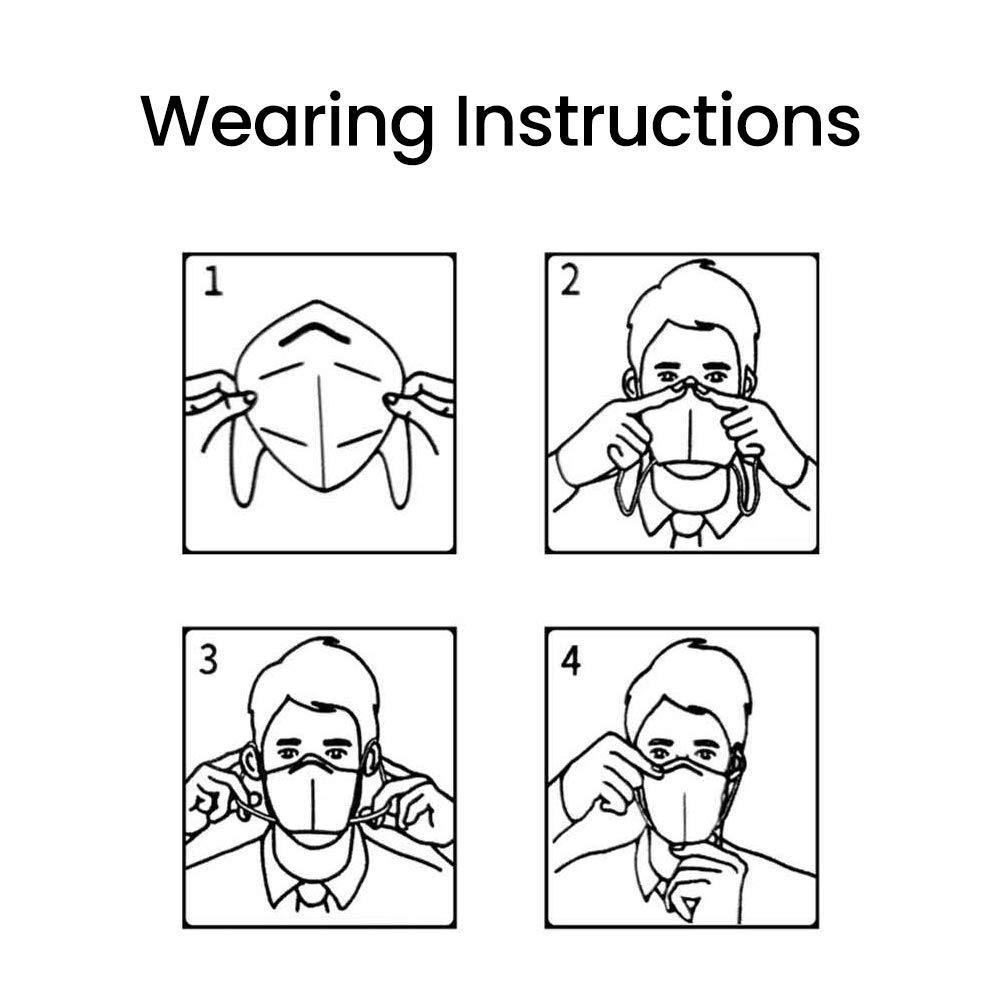 POWECOM KN95 Particulate Respirator FDA Authorized Anti Pollution PM2.5 Dust Face Mask 10Pcs/ Pack 3