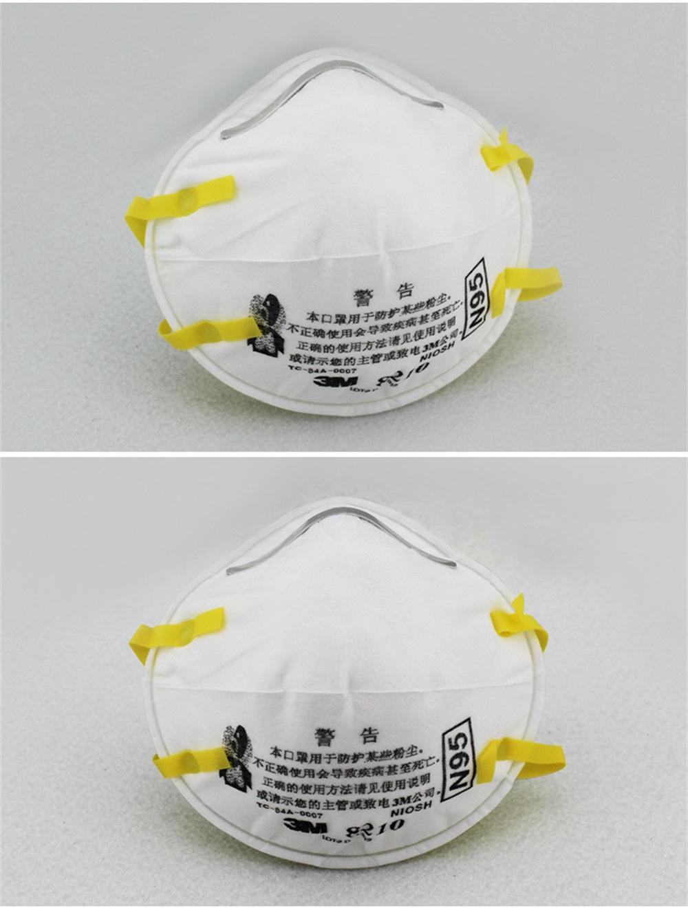 KN95 3M 8210CN Disposable KN95 Face Mask Flu Particulate Respirator Filter Dustproof Safe Guard 20pcs 0