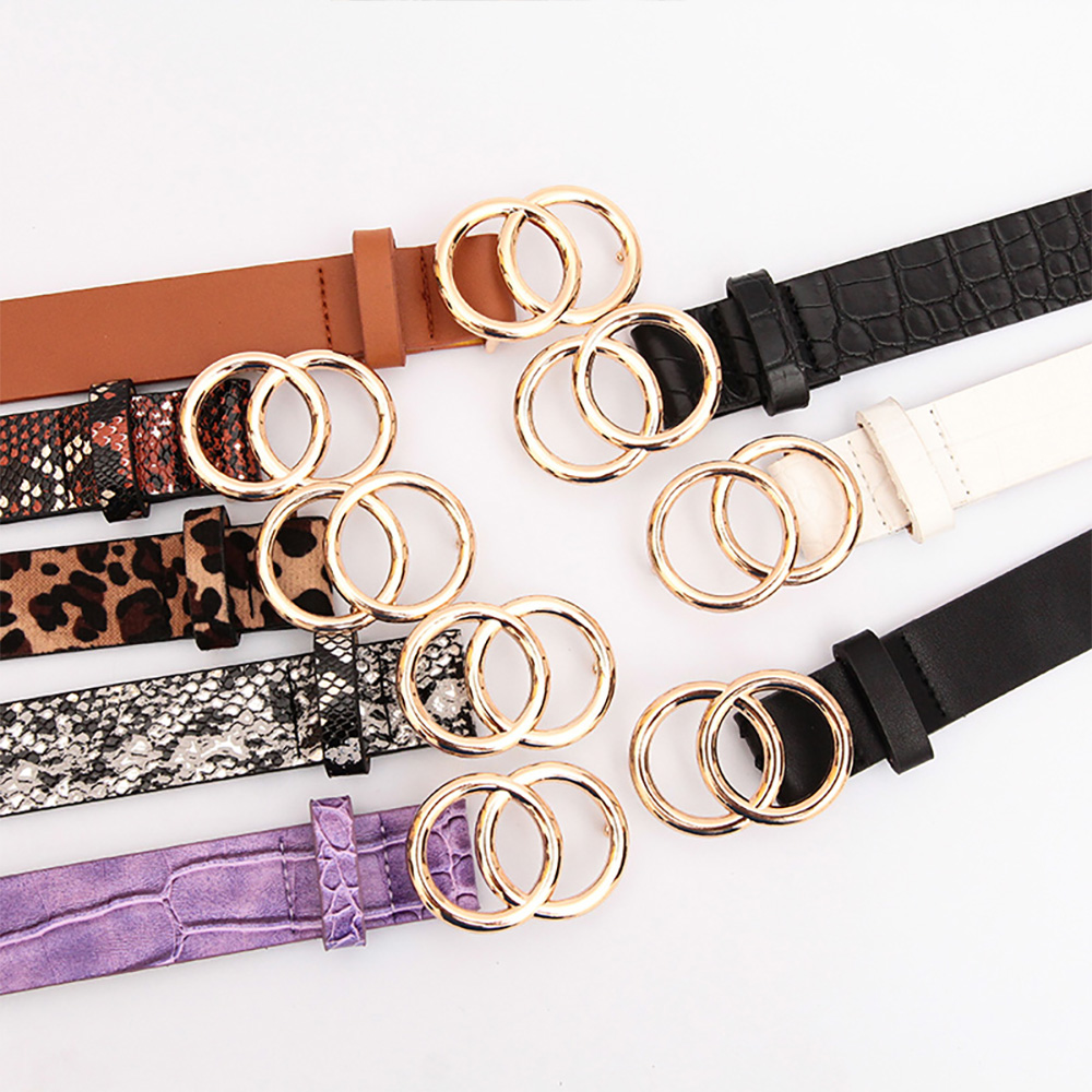 Double Round Decorative Attractive Unique Design With High Quality Belt For Women And Girls 5