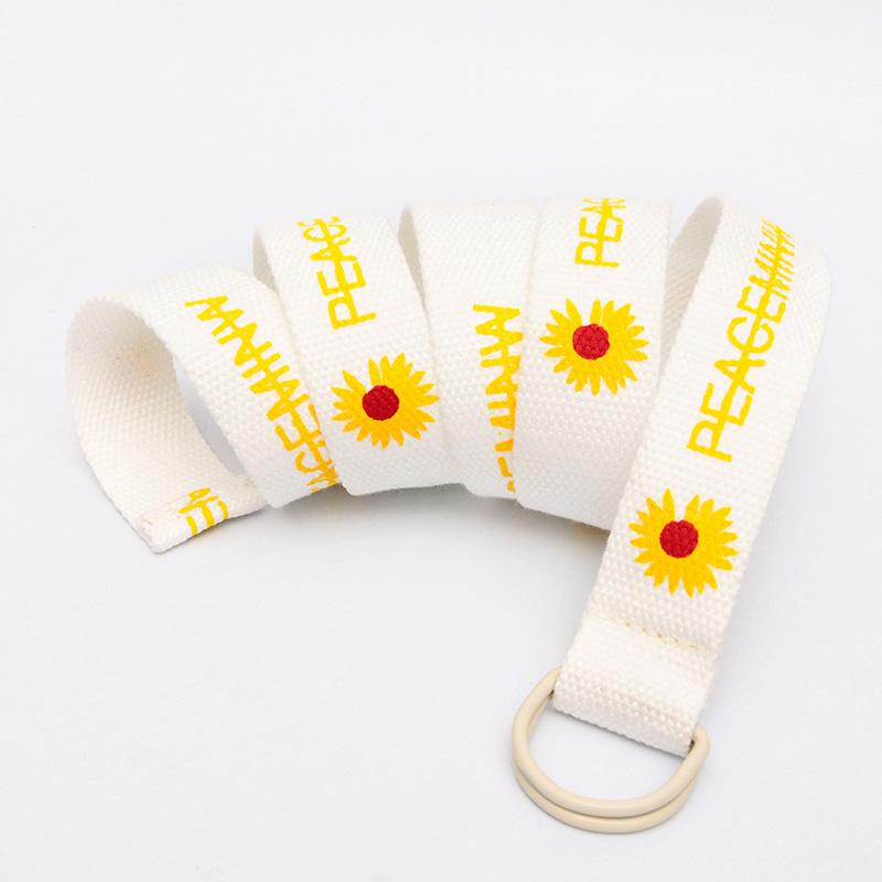 Canvas Belt Wild Casual Pin Buckle Belt Tide Models Young People Denim Belt For Women Ladies 6