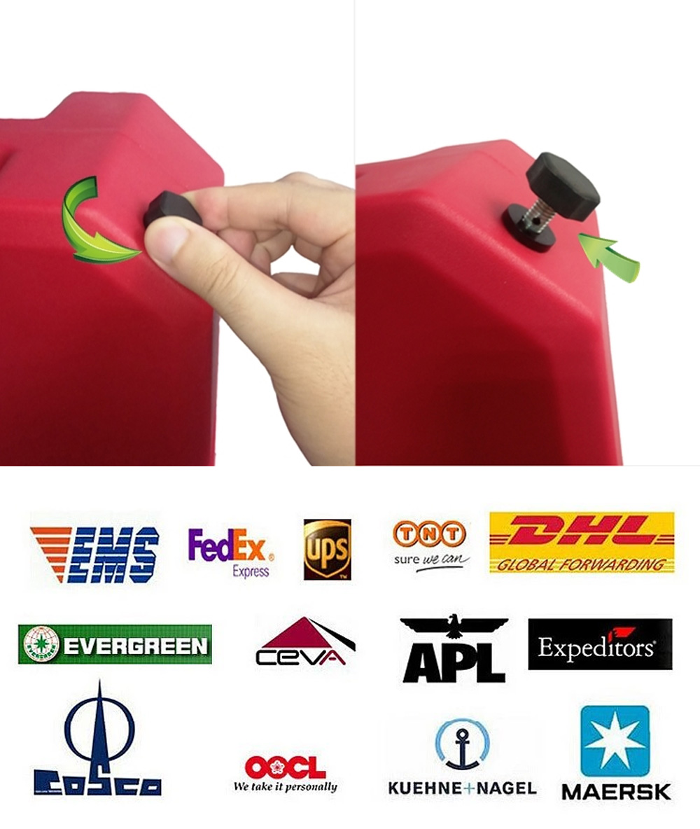 Plastic Universal Iron Proof Gasoline Car Vehicle Motorcycle Oil Jerry Can Auxiliary Fuel Tank With Hose Container  5