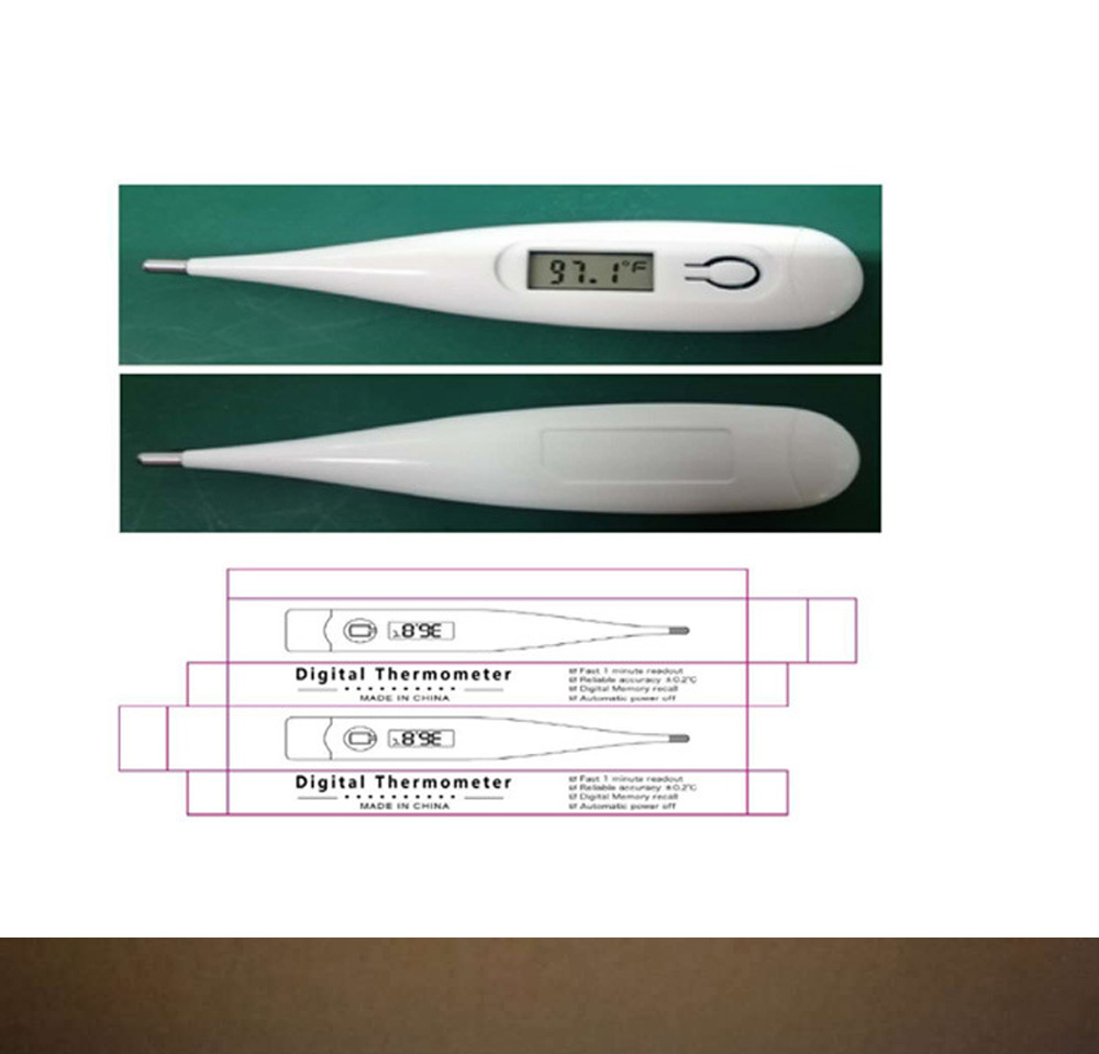 Fahrenheit Celsius Electronic Thermometer CE/FDA Certified Household Underarm Oral Child Thermometer 1