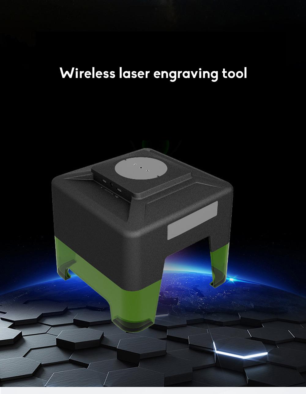 Multi-function APP Operation Desktop Frosted Black Explosion Type Mini Bluetooth Laser Engraving Machine 0