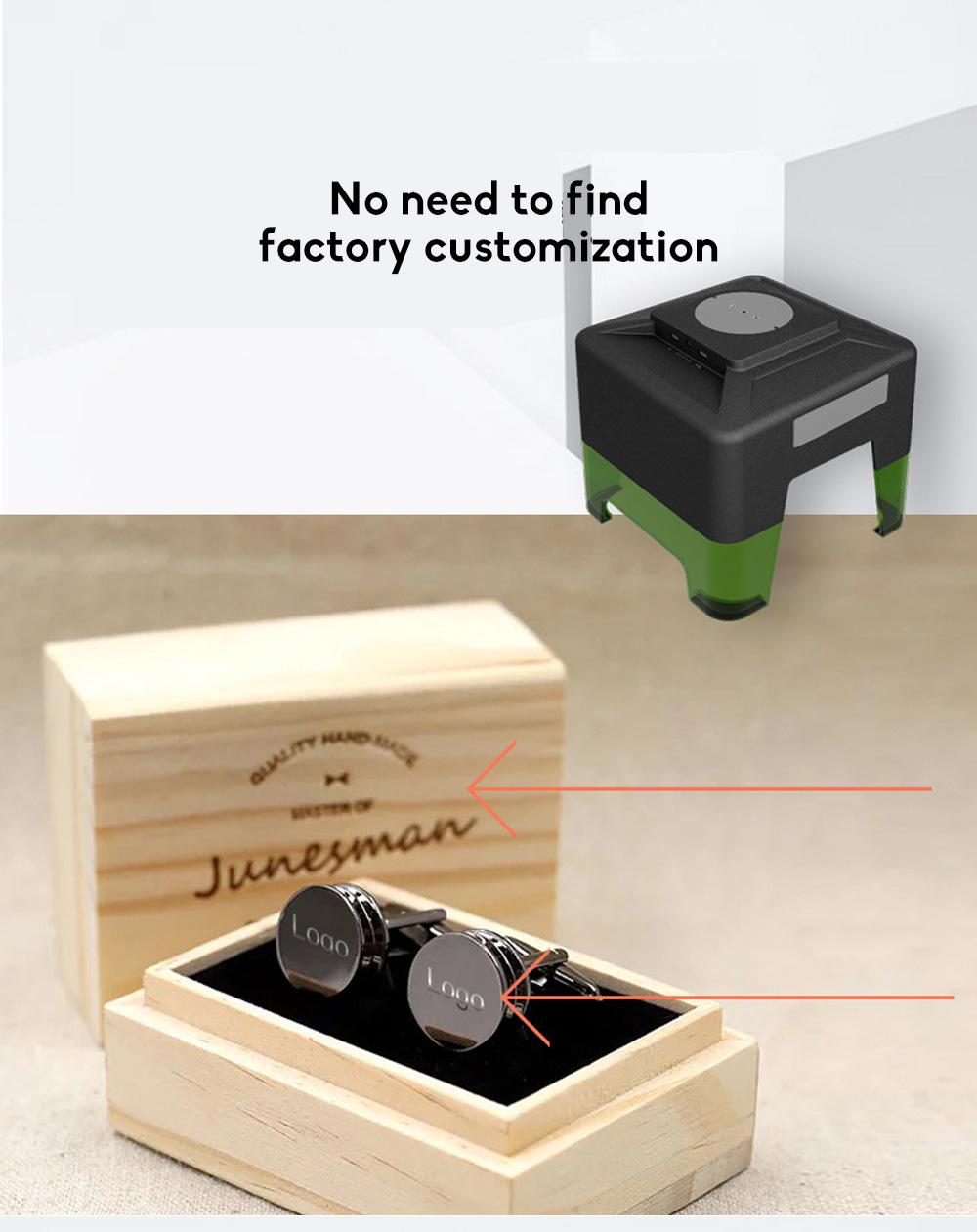 Multi-function APP Operation Desktop Frosted Black Explosion Type Mini Bluetooth Laser Engraving Machine 1
