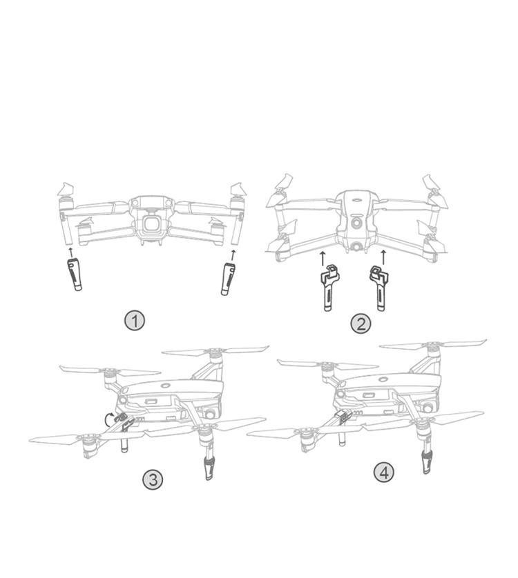 For Mavic 2 UAV Remote Control Screen Remote Rod Protective Cover Portable Anti-scratch Accessories Rocker Protector 4