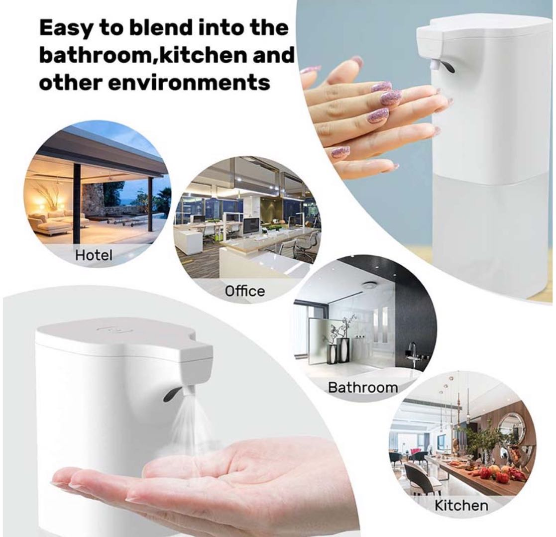 Infrared Sensor Automatic Hand Sanitizer Dispenser With Advanced Automatic Sensing Liquid Outlet Design 350ml  5
