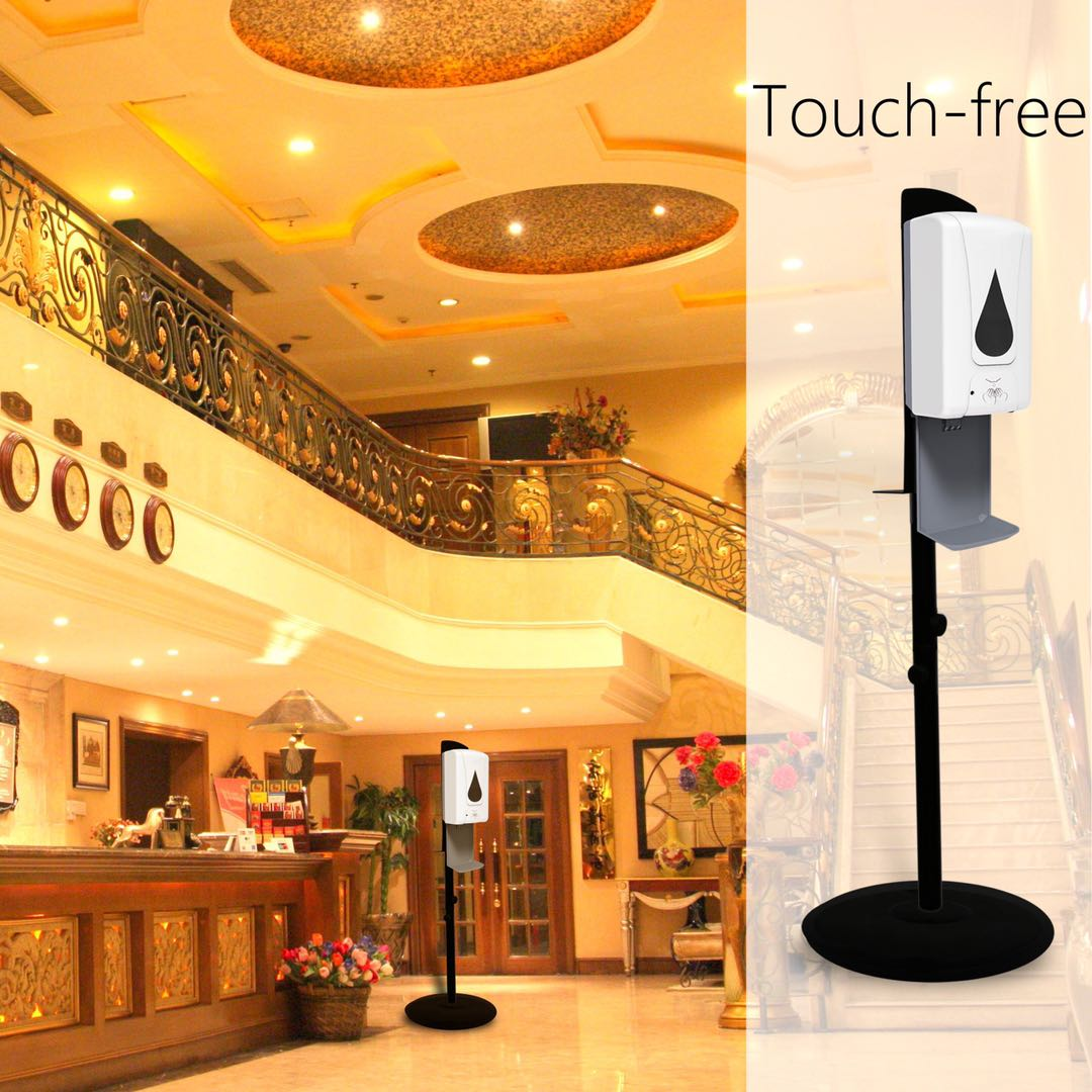 Infrared Sensor Automatic Hand Sanitizer Dispenser With Tray And Metal Bracelet 1200ml Big Liquid Loading Capacity 4