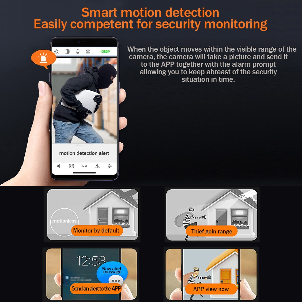 Mini WiFi Camera 1920X1080P Full HD Recording Meeting / Classroom / Security / Driving Recorder Smart Remote App Multipurpose Camera 7