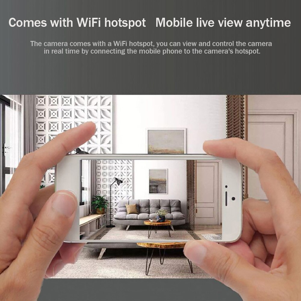 Mini WiFi Camera 1920X1080P Full HD Recording Meeting / Classroom / Security / Driving Recorder Smart Remote App Multipurpose Camera 3