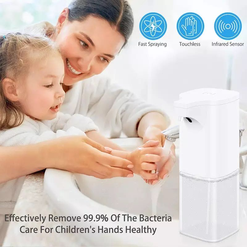 Infrared Sensor Automatic Hand Sanitizer Dispenser With Advanced Automatic Sensing Liquid Outlet Design 350ml  4