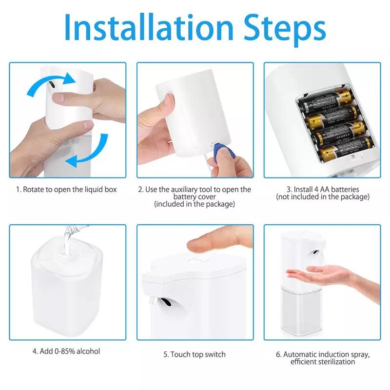 Infrared Sensor Automatic Hand Sanitizer Dispenser With Advanced Automatic Sensing Liquid Outlet Design 350ml  2