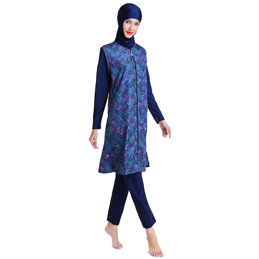 Muslim Swimsuit Long Vest With Unique Print Design Suitable For Women And Girls 2