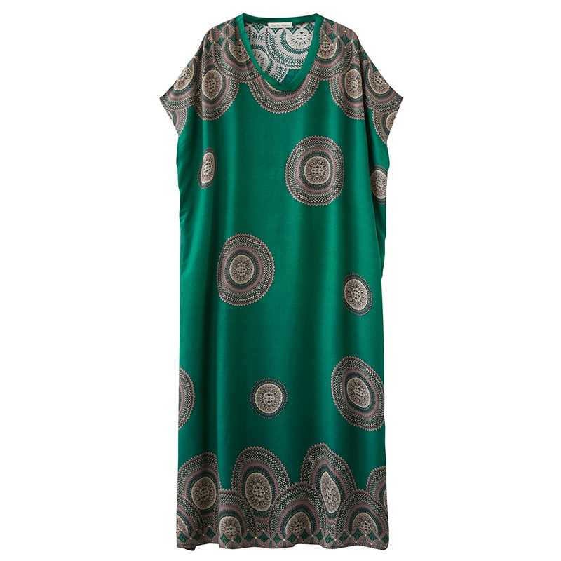2020 Latest Women's V-neck Oversize Retro Super Long Robe Dress With Casual Comfortable And Loose Design suitable for summer  3