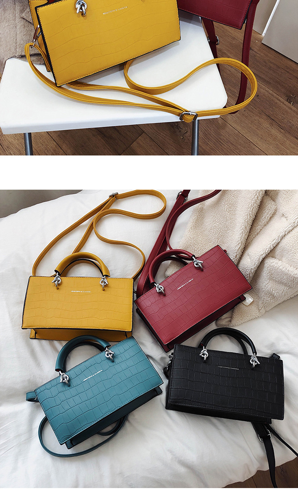 Crossbody Bags for Women PU material Small Square Bag Fashion Solid Color Ladies Bag Wild Messenger Bag For Women  5