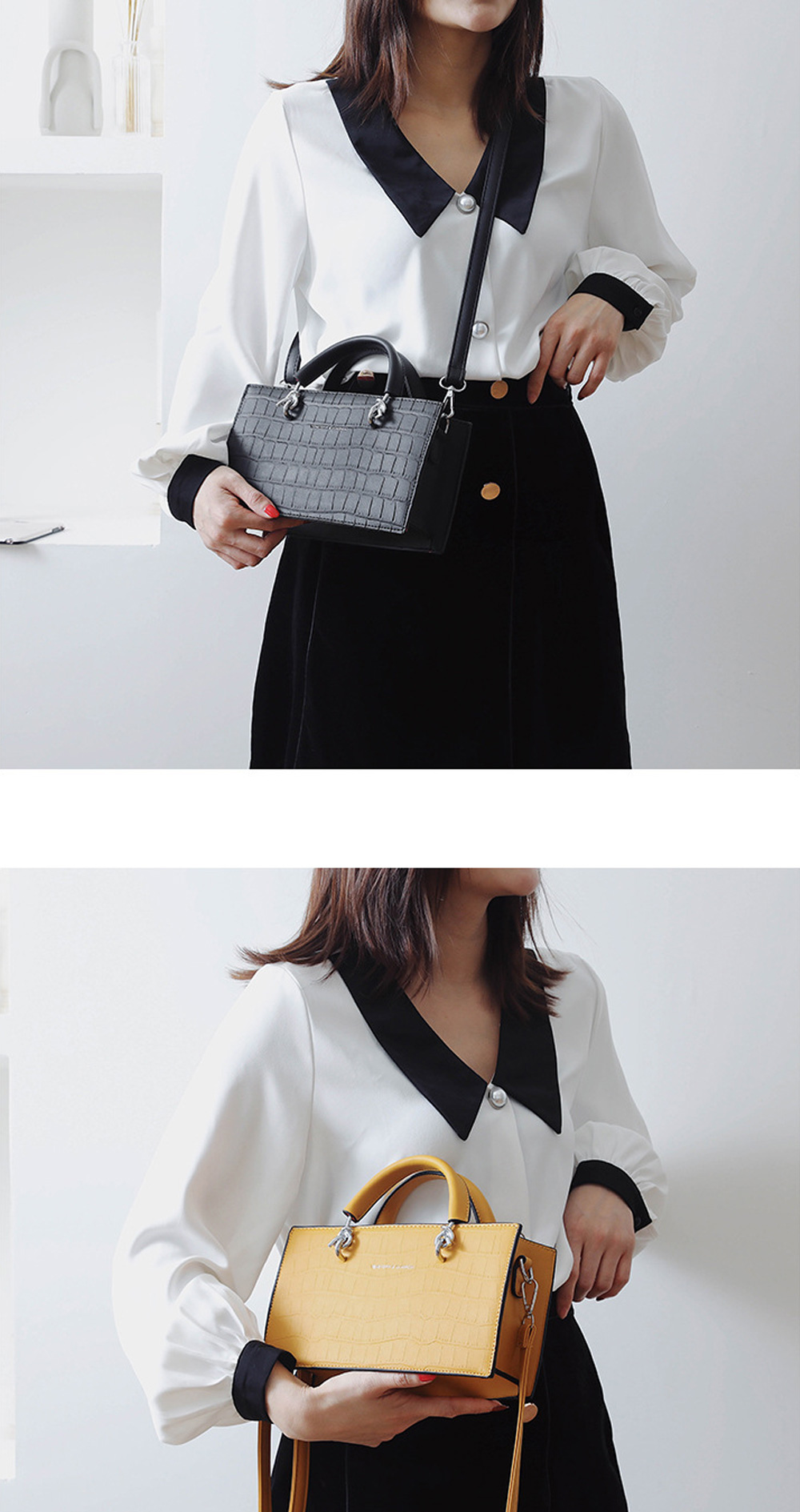 Crossbody Bags for Women PU material Small Square Bag Fashion Solid Color Ladies Bag Wild Messenger Bag For Women  3