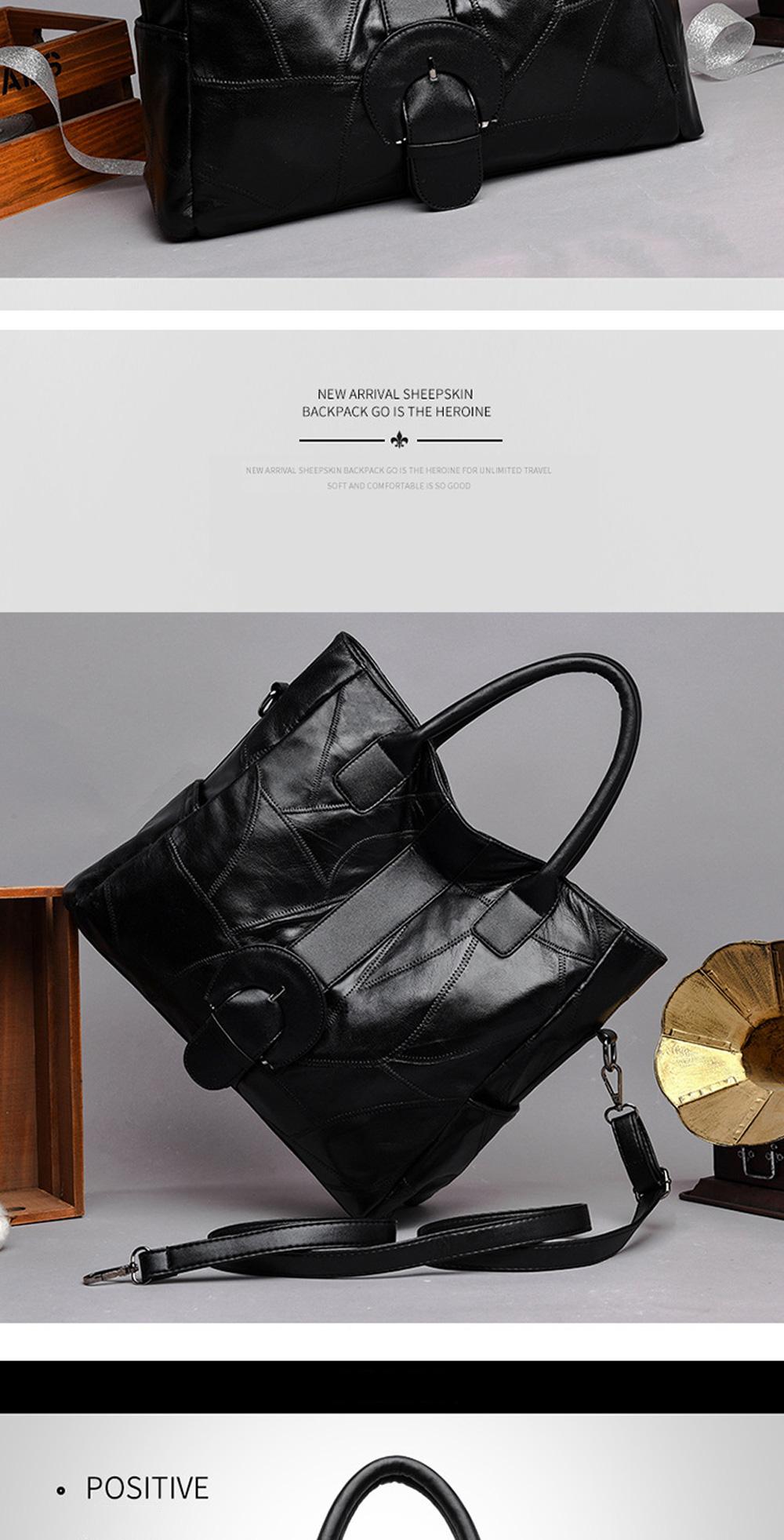 Genuine Leather Handbags Sheepskin Tote Bags, New Large-capacity Shoulder Handbags, Mommy bags Designed for women 33*10*31cm 4