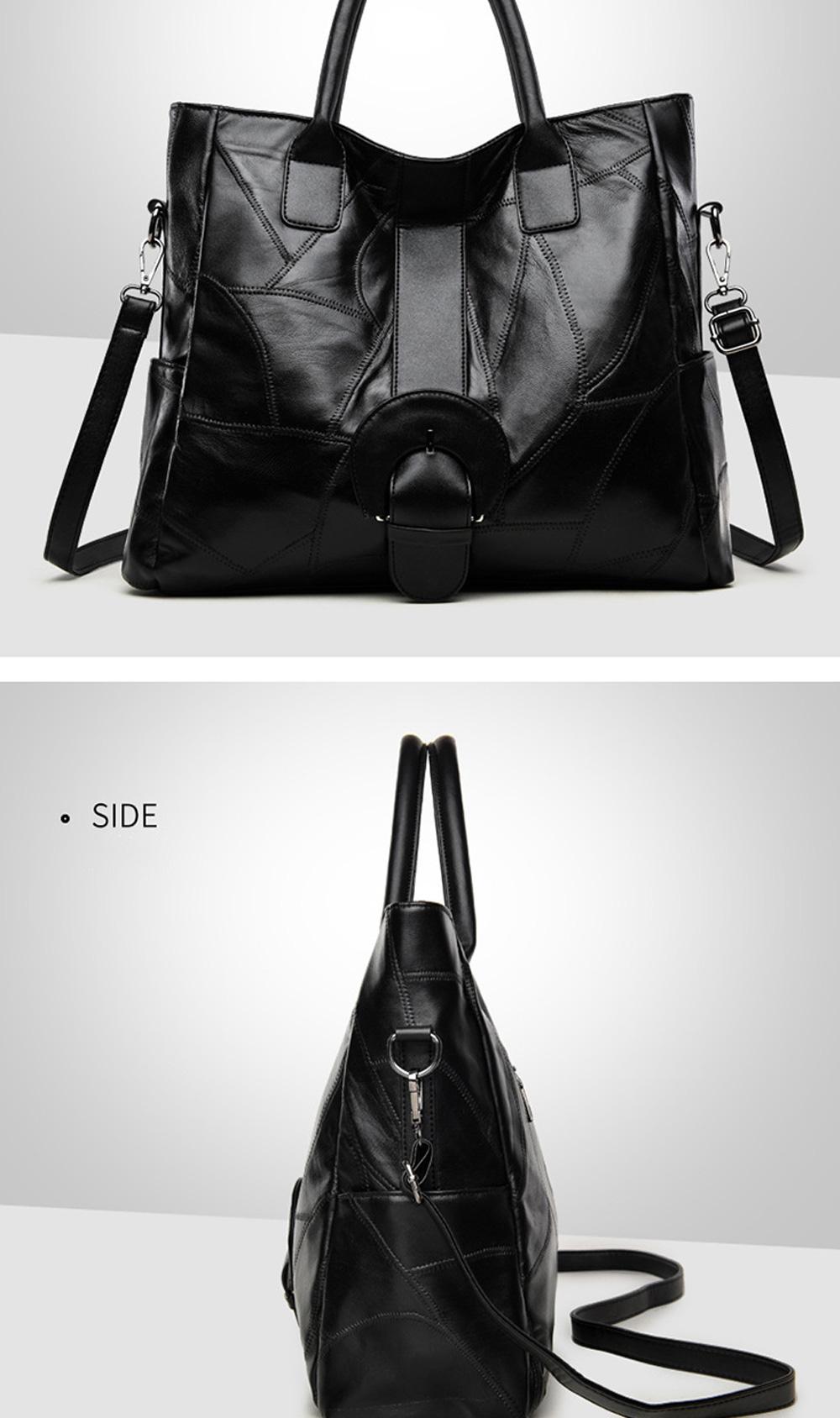 Genuine Leather Handbags Sheepskin Tote Bags, New Large-capacity Shoulder Handbags, Mommy bags Designed for women 33*10*31cm 5