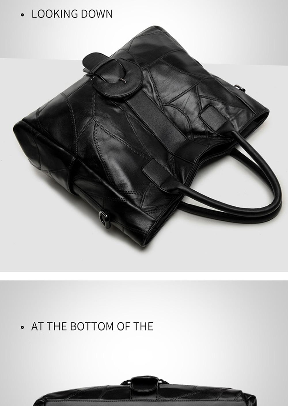 Genuine Leather Handbags Sheepskin Tote Bags, New Large-capacity Shoulder Handbags, Mommy bags Designed for women 33*10*31cm 6