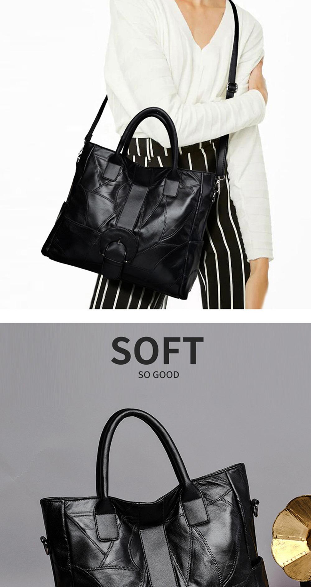 Genuine Leather Handbags Sheepskin Tote Bags, New Large-capacity Shoulder Handbags, Mommy bags Designed for women 33*10*31cm 3