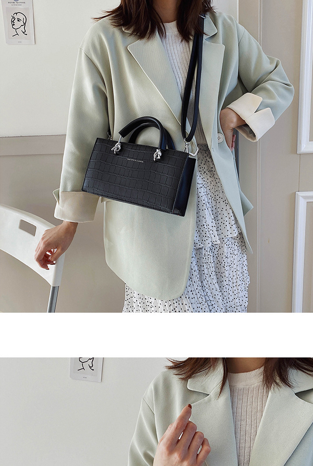 Crossbody Bags for Women PU material Small Square Bag Fashion Solid Color Ladies Bag Wild Messenger Bag For Women  0