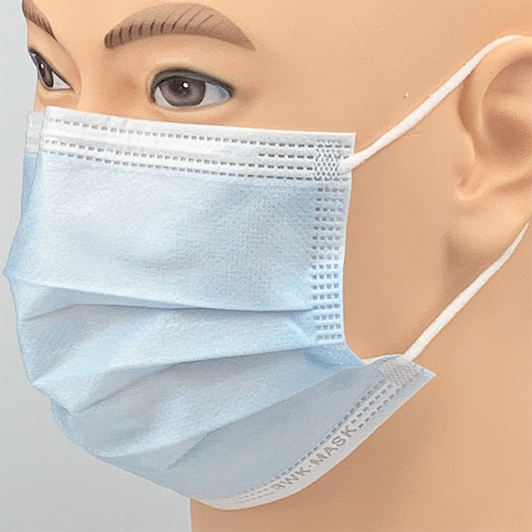 50Pcs POWECOM DM95 Disposable Face Masks 3-layer Non-woven Breathable Dust Masks Blue 1