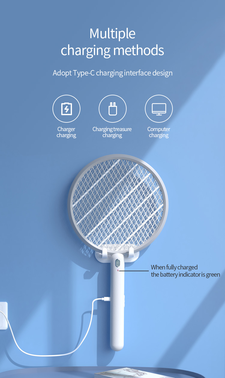 Type-C-USB Charging Wall-mounted With Stylish And Fashionable Simple Design LED Mosquito Trap 9