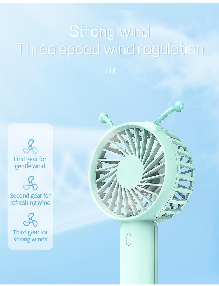 2000mAh Three-speed Wind Power Caterpillar Fan USB Interface Multi-angle Adjustment Wind Direction Plate Bracket Design Mobile Phone Bracket 7