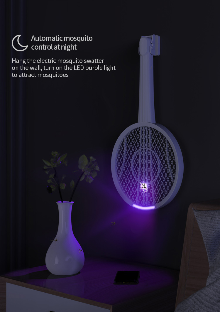 Multifunctional Guitar Electric Mosquito Racket Guitar Creative Wall-mounted Modeling Design USB Charging LED Mosquito Trap 6