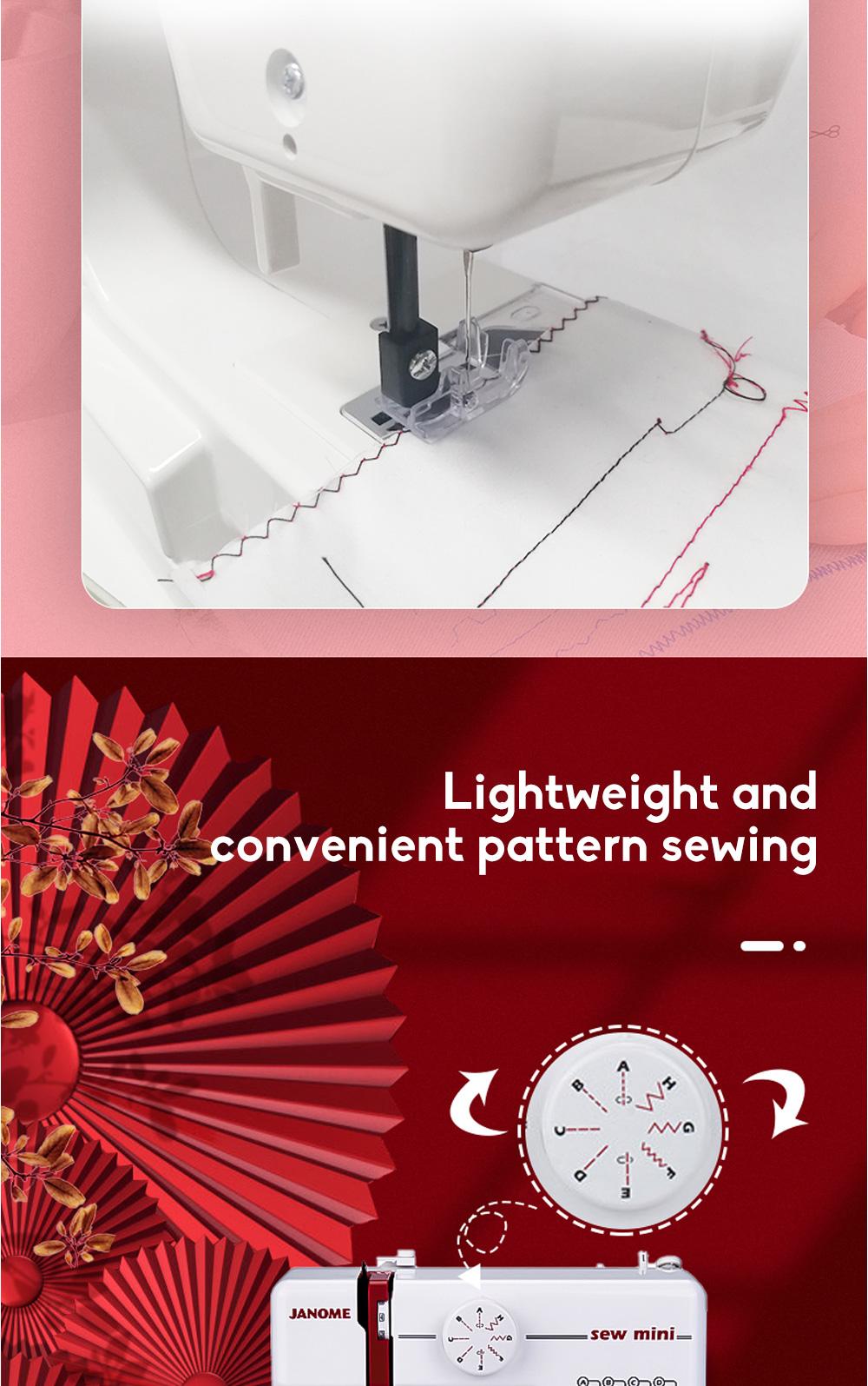 JANOME Electric Desktop Mini Home Sewing Machine Micro Bike Thick Multifunctional Manual Sewing  3