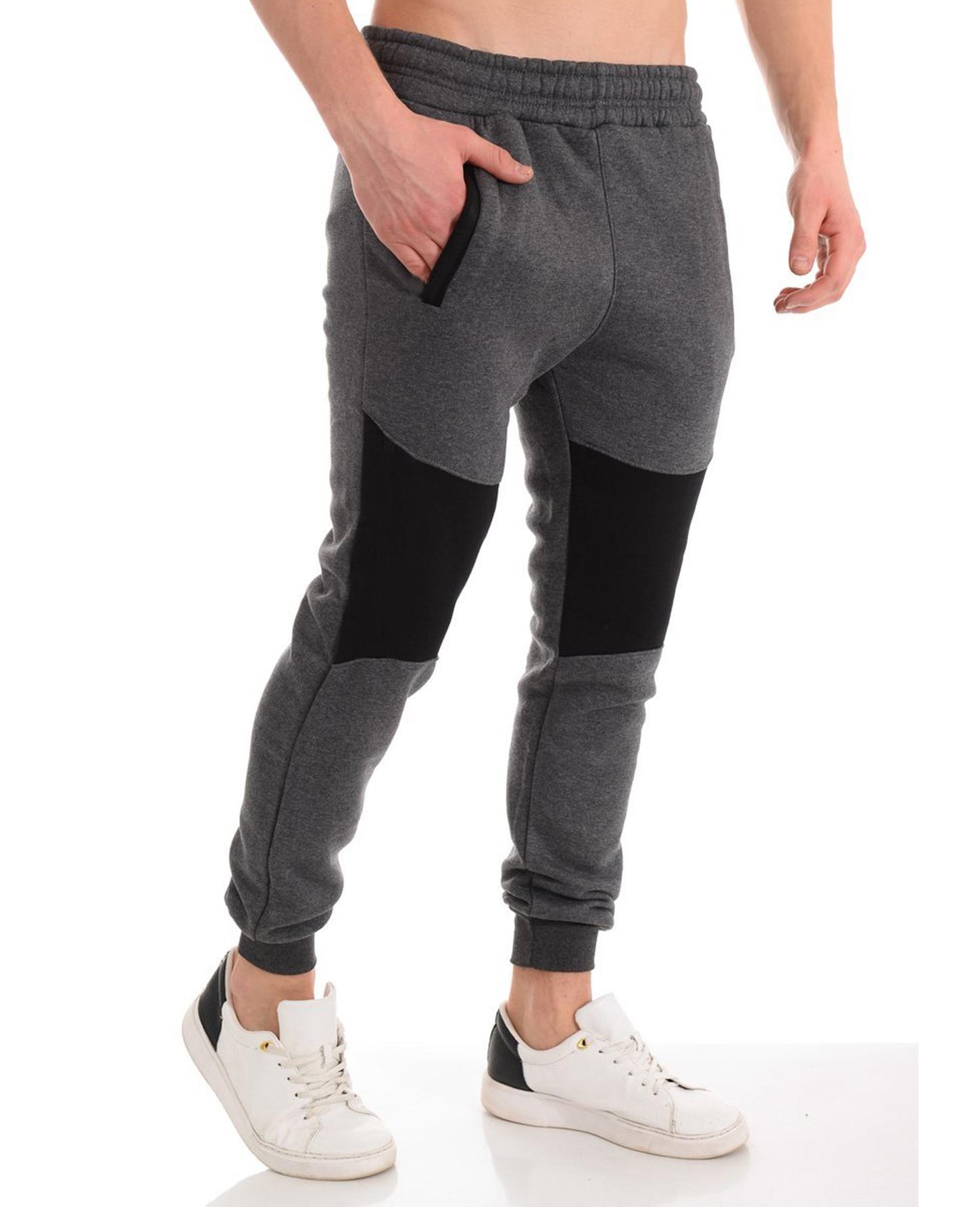 Men's Casual Zipper Stitching Trousers Autumn Pants Sports Jogging Pants 2020 New Men's Pants Tight Long Cotton Pants Sports Pants 2