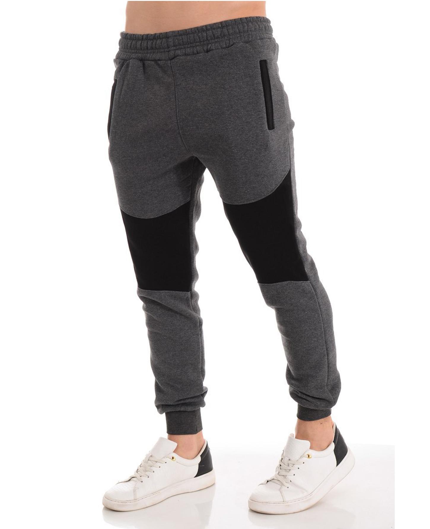 Men's Casual Zipper Stitching Trousers Autumn Pants Sports Jogging Pants 2020 New Men's Pants Tight Long Cotton Pants Sports Pants 0