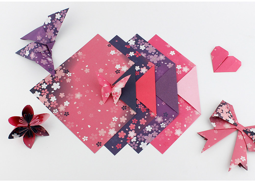 Children's Color Handmade Origami Material Origami Paper Craft With double-sided Origami Contains 60 sheets 5