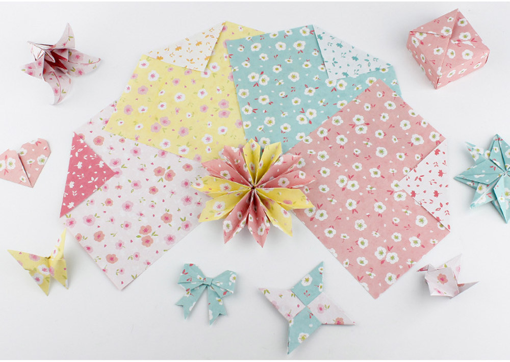 Children's Color Handmade Origami Material Origami Paper Craft With double-sided Origami Contains 60 sheets 17