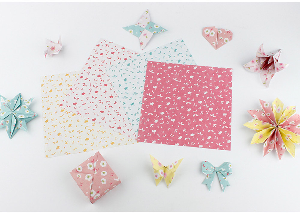 Children's Color Handmade Origami Material Origami Paper Craft With double-sided Origami Contains 60 sheets 18