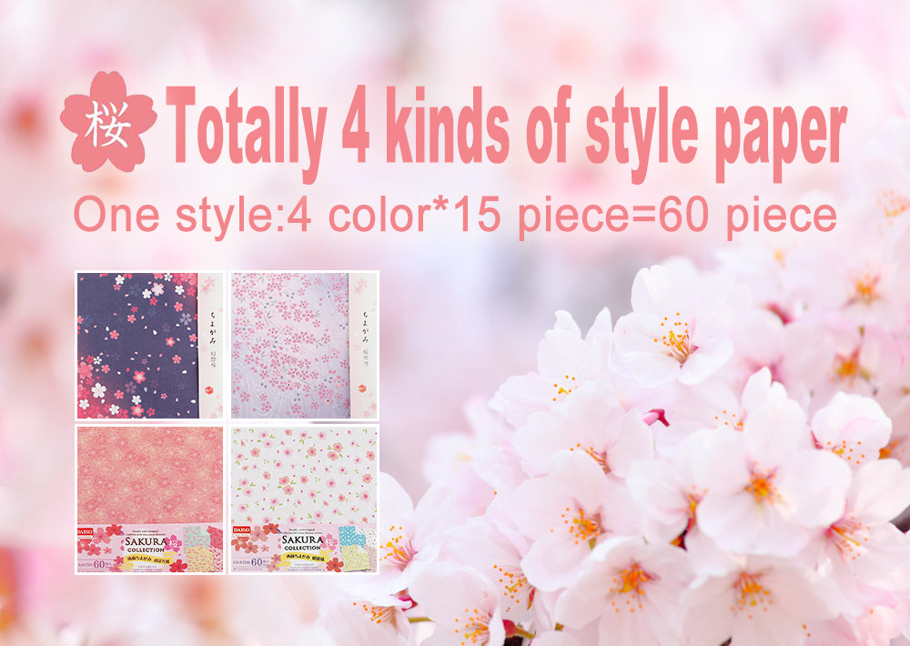 Children's Color Handmade Origami Material Origami Paper Craft With double-sided Origami Contains 60 sheets 0
