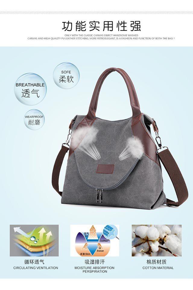 Women's Shopping Bag Large Ladies Canvas Shoulder Bags Tote Shopper Eco Reusable Bag Cotton Cloth Handbag for Women 2020 Beach 6