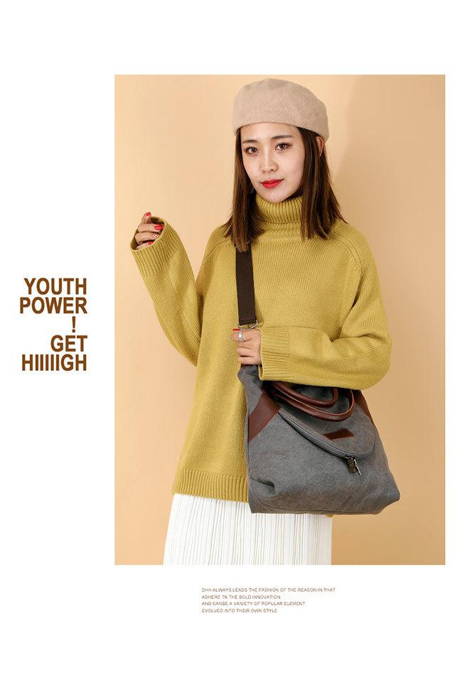 Women's Shopping Bag Large Ladies Canvas Shoulder Bags Tote Shopper Eco Reusable Bag Cotton Cloth Handbag for Women 2020 Beach 1