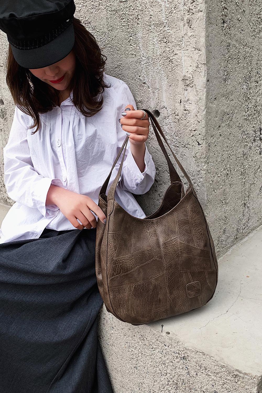 Messenger Bag Women Bucket Shoulder Bag Large Capacity Vintage Matte PU Leather Lady Handbag Design For Women And Girls 8