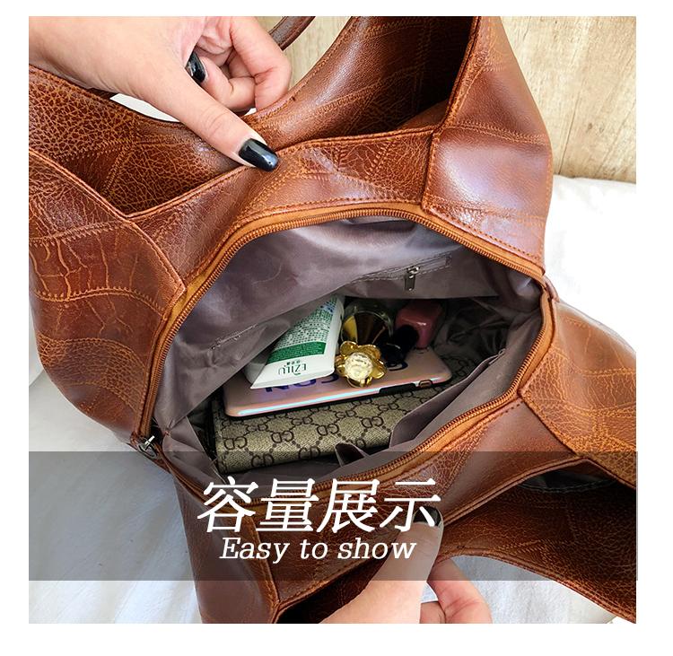 Messenger Bag Women Bucket Shoulder Bag Large Capacity Vintage Matte PU Leather Lady Handbag Design For Women And Girls 2