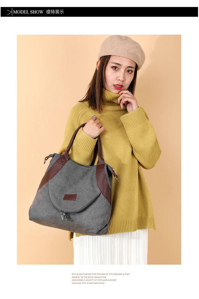 Women's Shopping Bag Large Ladies Canvas Shoulder Bags Tote Shopper Eco Reusable Bag Cotton Cloth Handbag for Women 2020 Beach 0
