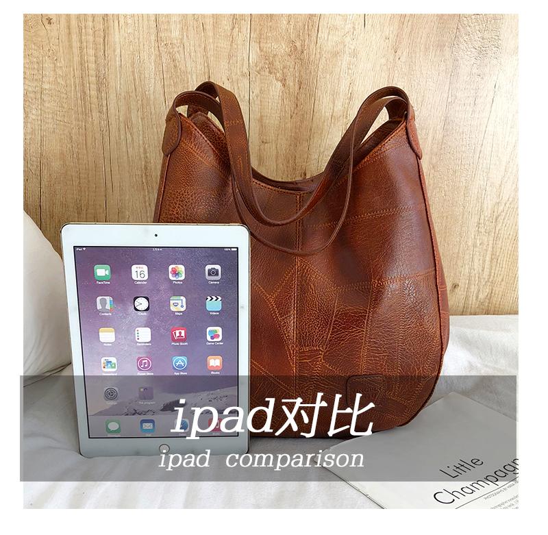 Messenger Bag Women Bucket Shoulder Bag Large Capacity Vintage Matte PU Leather Lady Handbag Design For Women And Girls 4