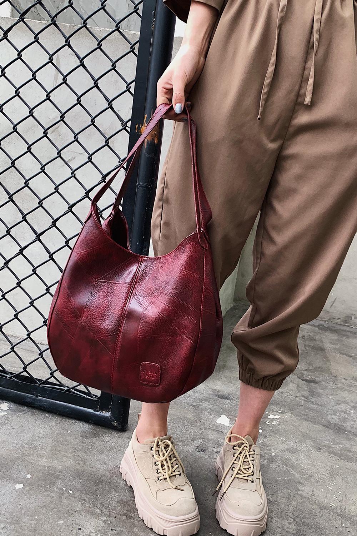 Messenger Bag Women Bucket Shoulder Bag Large Capacity Vintage Matte PU Leather Lady Handbag Design For Women And Girls 7