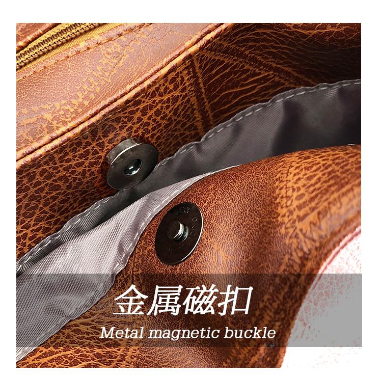 Messenger Bag Women Bucket Shoulder Bag Large Capacity Vintage Matte PU Leather Lady Handbag Design For Women And Girls 1