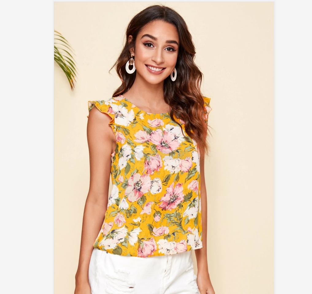 New Women Blouses Holiday Casual Short Sleeve Tops Ladies Printed Shirt Korean Summer Fashion Women Clothing 1