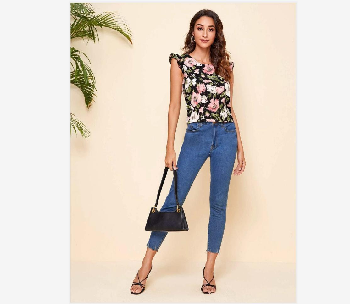 New Women Blouses Holiday Casual Short Sleeve Tops Ladies Printed Shirt Korean Summer Fashion Women Clothing 4