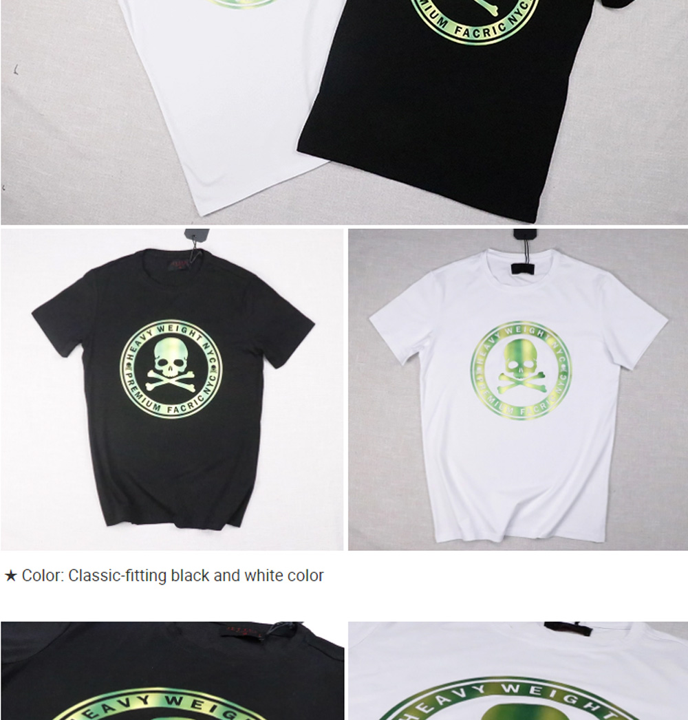 Men's T-shirt Short Sleeve Heavy Cotton T-shirt Round Neck T-shirt Classic Trend Style Suitable For Spring And Summer 2