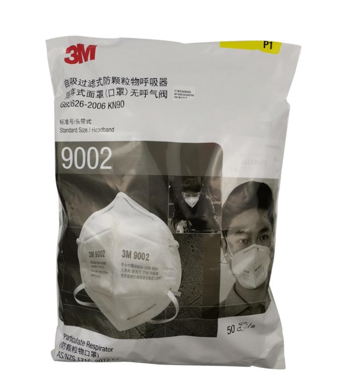 3M 9002 Particulate Respirator KN90 Headband Face Masks 50Pcs 0