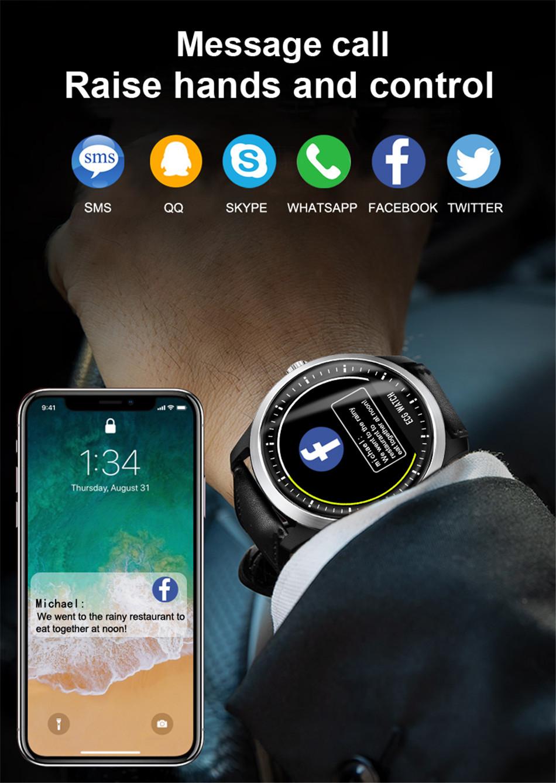 N58 Steel Band Smart Watch ECG ECG+PPG Sports Waterproof Bracelet HRV Report Blood Pressure Heart Rate Test  8